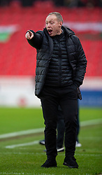 STOKE-ON-TRENT, ENGLAND - Saturday, January 25, 2020: Swansea City's manager Steve Cooper during the Football League Championship match between Stoke City FC and Swansea City FC at the Britannia Stadium. (Pic by David Rawcliffe/Propaganda)