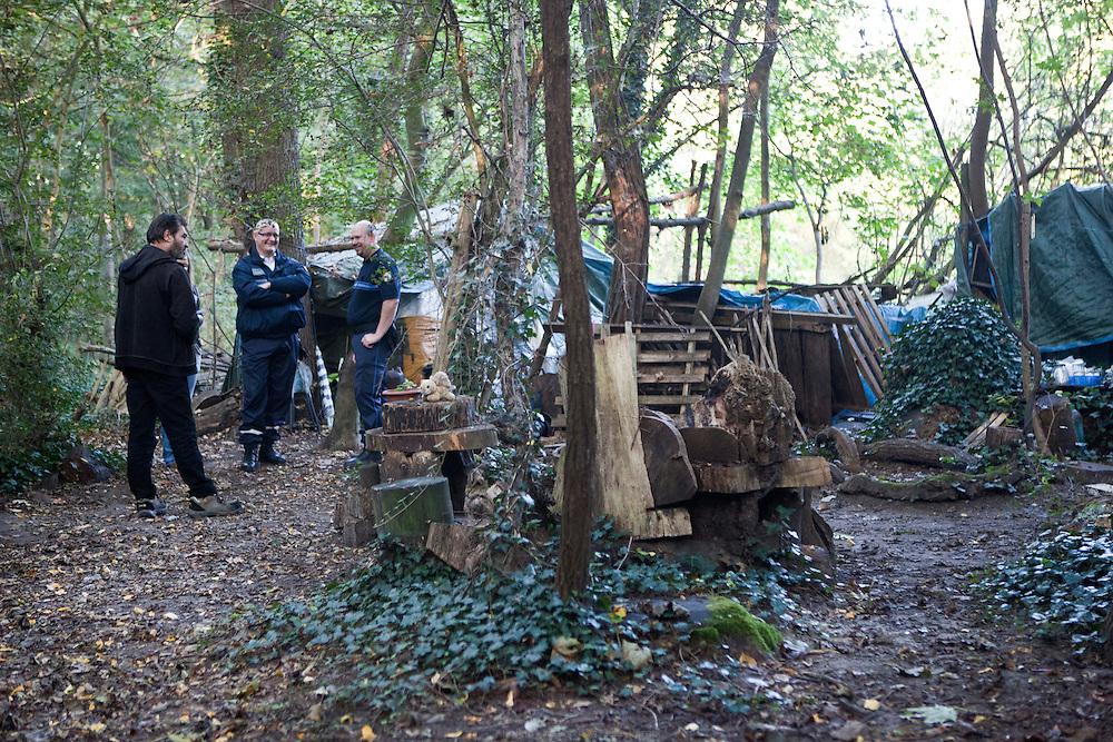 Maraude de l'UASA, l'Unité d'aide aux sans-abris, au Bois de Vincennes