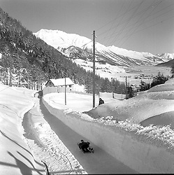 The Cresta Run, St.Moritz, Switzerland in January 1960.