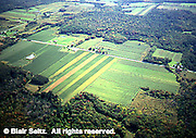 Aerial of flat terrain and farms, Erie, Erie Co., PA