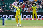 Adam Zampa of Australia  bowling during the ICC Cricket World Cup 2019 match between Afghanistan and Australia at the Bristol County Ground, Bristol, United Kingdom on 1 June 2019.