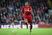 Liverpool midfielder Georginio Wijnaldum (5) during the Premier League match between Liverpool and Brighton and Hove Albion at Anfield, Liverpool, England on 30 November 2019.