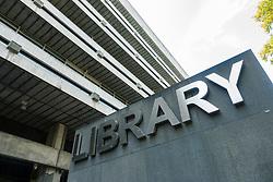Exterior of University of Edinburgh Library in George Square, Scotland, UK