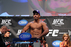 Toronto, Ontario, Canada - December 09, 2011: Lyoto Machida weighs in for his bout against UFC Light Heavyweight Champion Jon Jones at UFC 140 at the Air Canada Centre in Toronto, Canada.