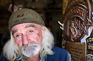 Bernie, a gold miner for the last 25 years living in his RV at the East Fork River looking for gold, Tuesday, March 3, 2009. Bernie said that since the US Economic crisis, he has seen an increase of people coming to the river looking for gold. .