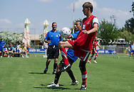 SO athletes while soccer match between SO Poland and SO Israel at male's 7-a-side tournament during 2011 Special Olympics World Summer Games Athens on June 27, 2011..The idea of Special Olympics is that, with appropriate motivation and guidance, each person with intellectual disabilities can train, enjoy and benefit from participation in individual and team competitions...Greece, Athens, June 27, 2011...Picture also available in RAW (NEF) or TIFF format on special request...For editorial use only. Any commercial or promotional use requires permission...Mandatory credit: Photo by © Adam Nurkiewicz / Mediasport