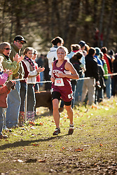 New England High School XC Championship, Elle Purrier, Richford, VT, leads