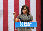 First Lady Michelle Obama campaigning for Hillary Clinton in Phoenix, AZ. on October 20, 2016. Michelle Obama campaigns for Hillary Clinton at the  Phoenix Convention Center in Downton Phoenix, AZ. Spot News, General News images for Newspapers by Photojournalist Pablo Robles.