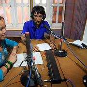 Youth Heart Beat radio show hosts Parbati and Shankar. The show deals with health issues and life skill issues for young people. The program is supported by Prayash Nepal, partner of Restless Development.