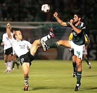 Fotball, 14. september,  UEFA Champions League, Panathinaikos - Rosenborg, , Dorsin , Rosenborg og Konstantinou, Panathinaikos