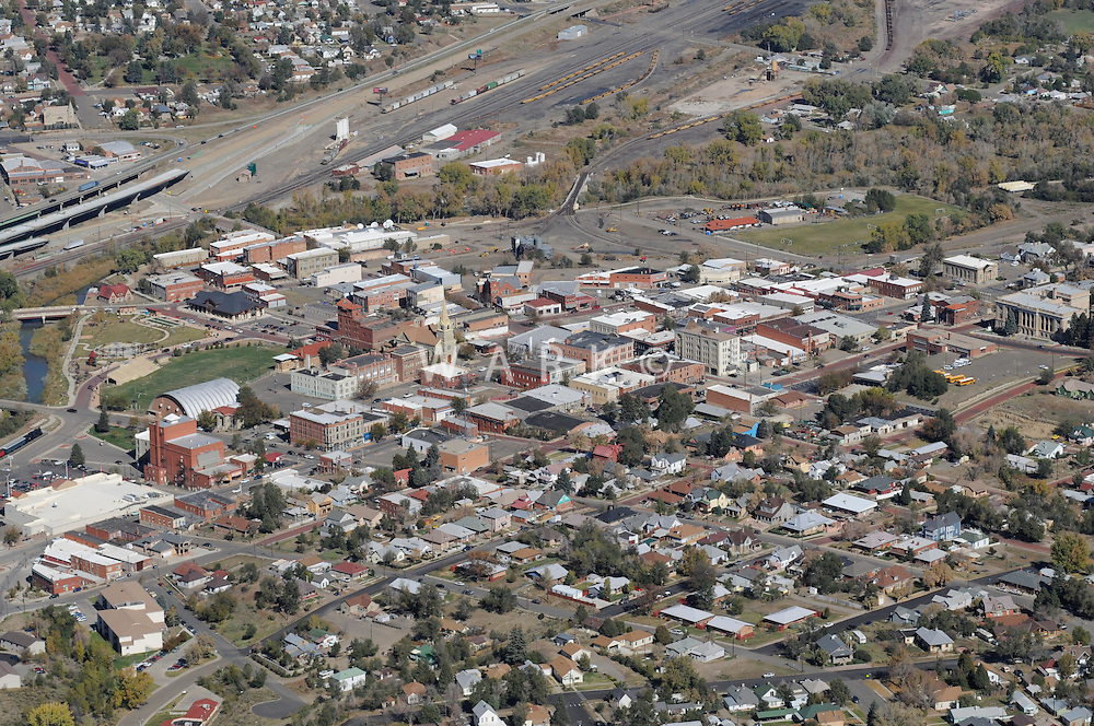 aerial of Trinidad, CO