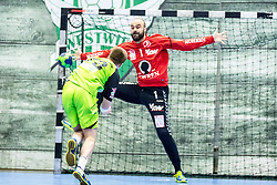10.12.2017, BSFZ Suedstadt, Maria Enzersdorf, AUT, HLA, SG INSIGNIS Handball WESTWIEN vs Bregenz Handball, Hauptrunde, 16. Runde, im Bild Viggo Kristjansson (SG INSIGNIS Handball WESTWIEN), Goran Aleksic (Bregenz Handball) // during Handball League Austria 16 th round match between SG INSIGNIS Handball WESTWIEN and Bregenz Handball at the BSFZ Suedstadt, Maria Enzersdorf, Austria on 2017/12/10, EXPA Pictures © 2017, PhotoCredit: EXPA/ Sebastian Pucher