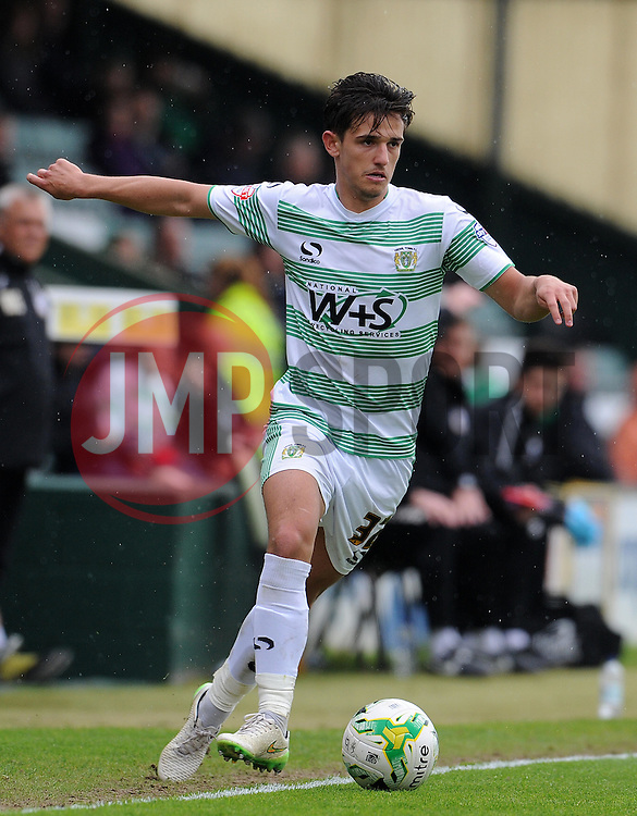 Yeovil Town's Liam Sheppard - Photo mandatory by-line: Harry Trump/JMP - Mobile: 07966 386802 - 25/04/15 - SPORT - FOOTBALL - Sky Bet League One - Yeovil Town v Port Vale - Huish Park, Yeovil, England.