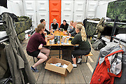 Nederland, Nijmegen, 19-7-2015Vierdaagse, 4daagse, militait kamp Heumensoord. Bij de Denen.DGFoto  editie NijmegenFoto: Flip Franssen