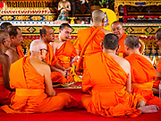 24 JUNE 2017 - BANG KRUAI, NONTHABURI: An ordination ceremony being ordained as monk at Wat Ta Khian in Nonthaburi.      PHOTO BY JACK KURTZ