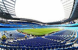 A general view of the Etihad Stadium  - Mandatory byline: Matt McNulty/JMP - 20/03/2016 - FOOTBALL - Etihad Stadium - Manchester, England - Manchester City v Manchester United - Barclays Premier League