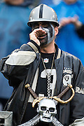 NASHVILLE, TN - NOVEMBER 29:  Fan of the Oakland Raiders yells for his team as they run out to warm up before a game against the Tennessee Titans at Nissan Stadium on November 29, 2015 in Nashville, Tennessee.  (Photo by Wesley Hitt/Getty Images) *** Local Caption ***