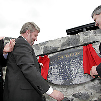 Ger Dollard, Tommy Brennan Mayor of Clare and Mayor of Shannon, Tony Mulcahy officially open the new Cul na Greinne Housing Scheme in Shannon.<br /> <br /> Photograph by Yvonne Vaughan.