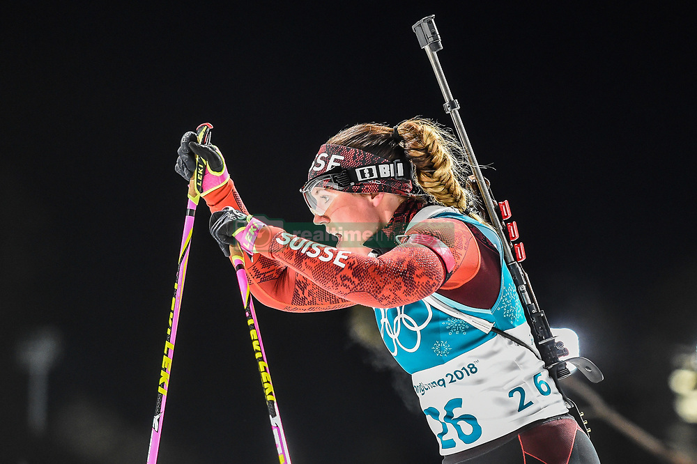 February 12, 2018 - Pyeongchang, Gangwon, South Korea - Lena Haecki of Switzerland competing at Women's 10km Pursuit, Biathlon, at olympics at Alpensia biathlon stadium, Pyeongchang, South Korea. on February 12, 2018. Ulrik Pedersen/Nurphoto  (Credit Image: © Ulrik Pedersen/NurPhoto via ZUMA Press)