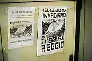 En affisch med texten &quot;Invadiamo Reggio&quot;. Syftar p&aring; bortamatchen mellan Reggio och Parma den 19/12.<br /> Foto: Nils Petter Nilsson