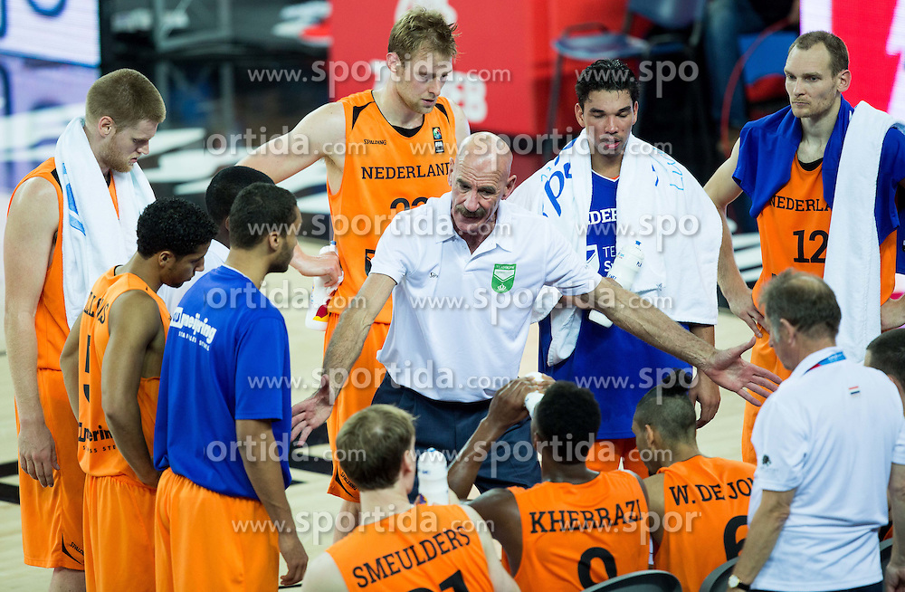 Toon van Helfteren, head coach of Netherlands during basketball match between Georgia and Netherlands at Day 1 in Group C of FIBA Europe Eurobasket 2015, on September 5, 2015, in Arena Zagreb, Croatia. Photo by Vid Ponikvar / Sportida