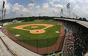 June 2, 2010; Birmingham, AL, USA; A general view of the field from above at the 15th Annual Rickwood Classic.  Mandatory credit  Marvin Gentry