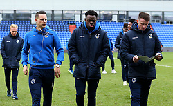 Billy Bodin, Marc Bola and Ollie Clarke of Bristol Rovers arrive at The Sportsdirect.com Park for the fixture against Oldham Athletic - Mandatory by-line: Robbie Stephenson/JMP - 30/12/2017 - FOOTBALL - Sportsdirect.com Park - Oldham, England - Oldham Athletic v Bristol Rovers - Sky Bet League One