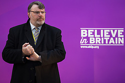 © Licensed to London News Pictures . FILE PICTURE DATED 23/03/2015 . Middleton , UK . UKIP Head of Candidates DAVID SOUTTER at a UKIP policy launch at Concept Metal Products and Co Ltd in Middleton , Greater Manchester, on 23rd March 2015 . It is reported that UKIP head of candidates David Soutter has been having an extra-marital affer with former UKIP candidate Natasha Bolter . Photo credit : Joel Goodman/LNP