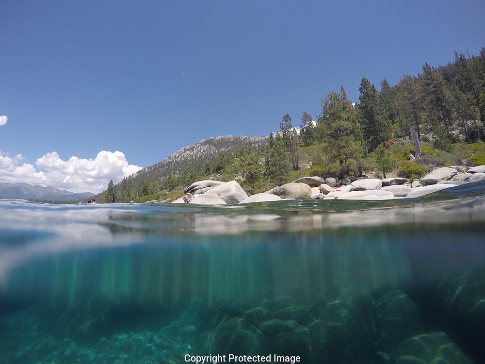 Lake Tahoe swimming