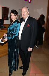 ZOE HARRIS and her father in law LORD HARRIS OF PECKHAM at a fundraising gala to celebrate 150 years of The National Portrait Gallery, at the NPG, St.Martin's Place, London on 28th February 2006.<br />