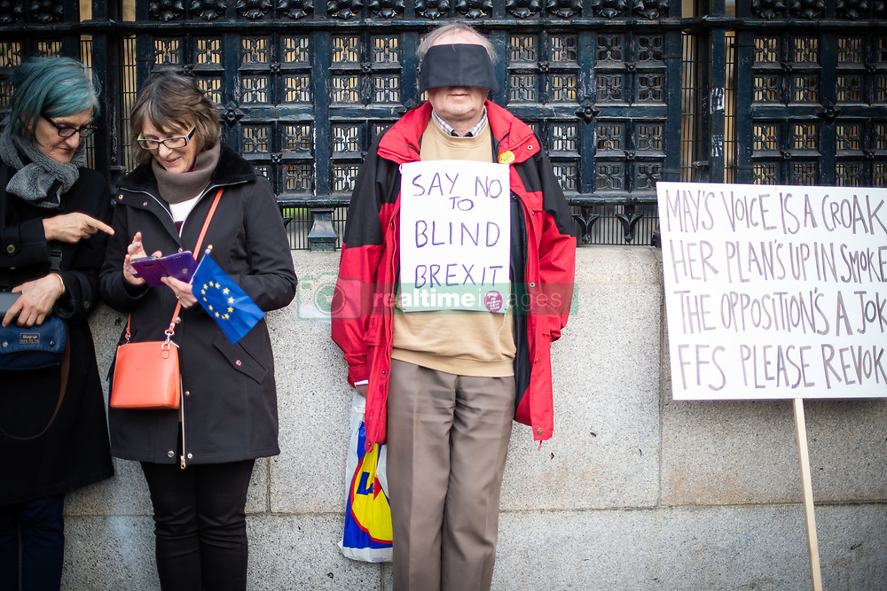 Anti-Brexit campaigners as they take part in the People's Vote March in London. Picture date: Saturday March 23, 2019. Photo credit should read: Matt Crossick/Empics