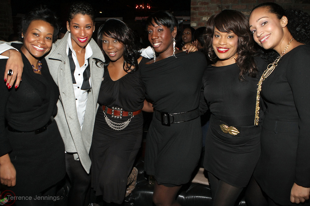 l to r: Holly Larkins, Shante Timberlake, Titi Kiki, Tracey Smith,  at The Jamie Foxx's Album Release Party for Intuition, Sponsored by Vibe Magazine & Patron Tequila held at Home on December 17, 2008 in New York City..