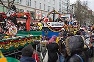 Berlin, Germany - 31.01.2016 <br /> <br /> Several thousand people participate in the carnival parade in Berlin-Charlottenburg. The highlight of the parade was the bandwagon of crooner Frank Zander. Berlin is not a German carnival stronghold .<br /> <br /> Einige Tausend Menschen beteiligen sich am Karneval-Umzug in Berlin-Charlottenburg. Hoehepunkt des Aufzug war der Wagen von dem Schlagersaenger Frank Zander. Berlin gilt nicht als deutsche Karnevalshochburg.