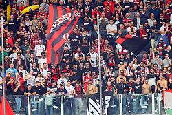 """Foto Filippo Rubin<br /> 21/10/2017 Cesena (Italia)<br /> Sport Calcio<br /> Cesena vs Fogga - Campionato di calcio Serie B ConTe.it 2017/2018 - Stadio """"Orogel Stadium""""<br /> Nella foto: I TIFOSI DEL FOGGIA<br /> <br /> Photo Filippo Rubin<br /> October 21, 2017 Cesena (Italy)<br /> Sport Soccer<br /> Cesena vs Foggia - Italian Football Championship League B ConTe.it 2017/2018 - """"Orogel Stadium"""" Stadium <br /> In the pic: FOGGIA SUPPORTERS"""