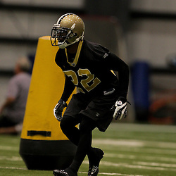 21 May 2009: Saints defensive back Tracy Porter (22) participates in drills during the New Orleans Saints Organized Team Activities (OTA's) held at the team's indoor practice facility in Metairie, Louisiana.