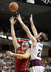 Iowa State's Georges Niang (31) shoots over Texas A&M's Alex Caruso (21) during the second half of an NCAA college basketball game, Saturday, Jan. 30, 2016, in College Station, Texas. Texas A&M won 72-62. (AP Photo/Sam Craft)
