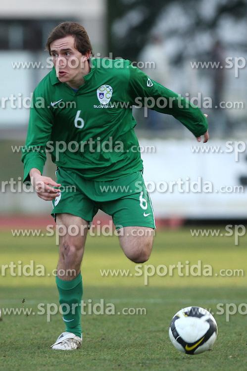 Nikola Tolimir (6)  of Slovenia during Friendly match between U-21 National teams of Slovenia and Romania, on February 11, 2009, in Nova Gorica, Slovenia. (Photo by Vid Ponikvar / Sportida)