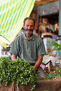 Vegetable market, Moulay Idriss Zerhoun Medina, Middle Atlas region of Morocco, 2015-09-19.