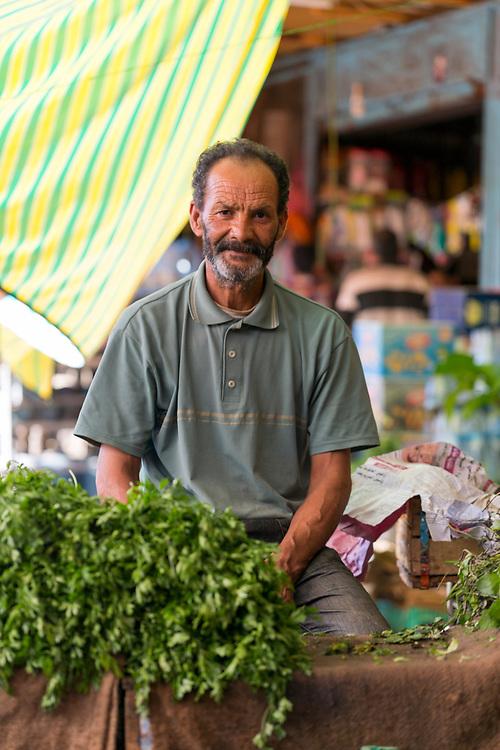 Vegetable market, Moulay Idriss Zerhoun Medina, Middle Atlas region of Morocco, 2015-09-19.