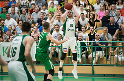 Dino Cinac of Krka during basketball match between KK Krka Novo mesto and  KK Petrol Olimpija in 4th Final game of Liga Nova KBM za prvaka 2017/18, on May 27, 2018 in Sports hall Leona Stuklja, Novo mesto, Slovenia. Photo by Vid Ponikvar / Sportida