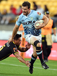 Northland's Matt Moulds slips the tackle of Wellington's Trent Renata in the Mitre 10 Semi Final Rugby match at Westpac Stadium, Wellington, New Zealand, Friday, October 20, 2017. Credit:SNPA / Ross Setford  **NO ARCHIVING**