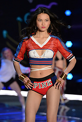 Xin Xie on the catwalk for the Victoria's Secret Fashion Show at the Mercedes-Benz Arena in Shanghai, China