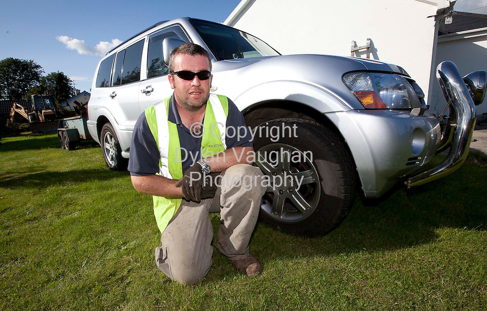 24/8/2010.Ken Phelan pictured with his commercial vehicle in County Kilkenny..Picture Dylan Vaughan.