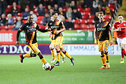 Bradford City midfielder Mark Marshall (7) dribbling and starting an attack during the EFL Sky Bet League 1 match between Charlton Athletic and Bradford City at The Valley, London, England on 14 March 2017. Photo by Matthew Redman.