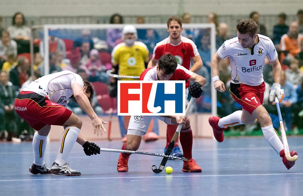BERLIN - Indoor Hockey World Cup<br /> Austria - Belgium<br /> foto: STANZL Benjamin<br /> WORLDSPORTPICS COPYRIGHT FRANK UIJLENBROEK