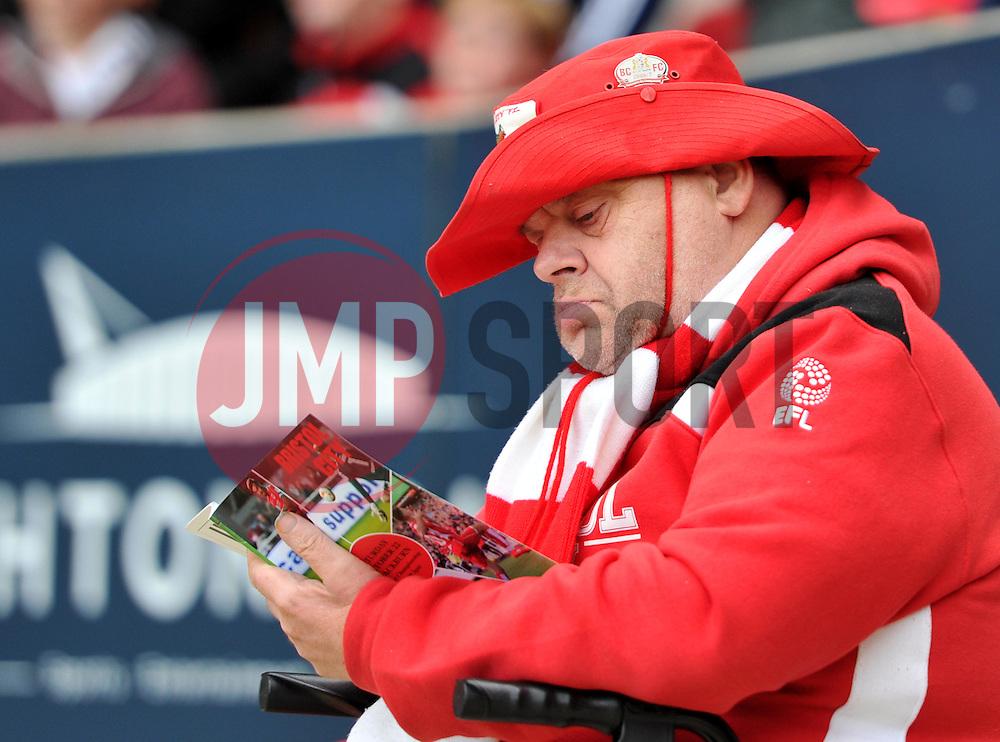 Bristol City supporter studies the match day programme - Mandatory by-line: Paul Knight/JMP - 22/10/2016 - FOOTBALL - Ashton Gate Stadium - Bristol, England - Bristol City v Blackburn Rovers - Sky Bet Championship