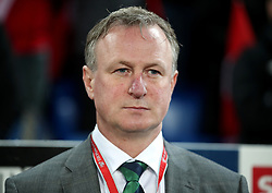 Northern Ireland manager Michael O'Neill before the FIFA World Cup Qualifying second leg match at St Jakob Park, Basel.