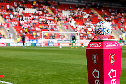A Mitre Football League Match Ball inside the Aesseal New York Stadium - Mandatory by-line: Ryan Crockett/JMP - 11/08/2018 - FOOTBALL - Aesseal New York Stadium - Rotherham, England - Rotherham United v Ipswich Town - Sky Bet Championship
