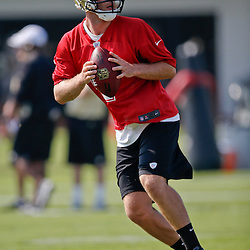 Jul 26, 2013; Metairie, LA, USA; New Orleans Saints rookie quarterback Ryan Griffin (4) during the first day of training camp at the team facility. Mandatory Credit: Derick E. Hingle-USA TODAY Sports