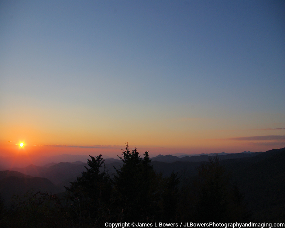 Blue Ridge Sunset Mt Pisgah